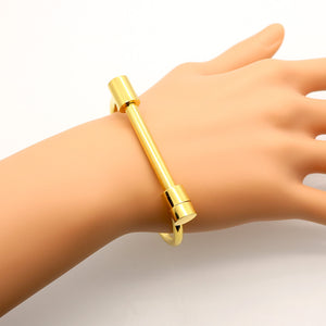 Screw Cuff Bracelet (Gold, Rose Gold or Silver) - Branded Royalty