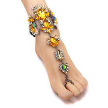 Boho Crystal Gem Anklet Foot Jewelry (Various Colors)