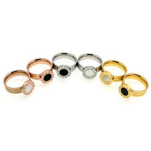 Stone Roman Numeral Ring (Gold, Rose Gold or Silver) - Branded Royalty