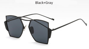 Arched Cat Eye Sunglasses (Various Colors)