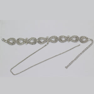 Rhinestone Choker with/without Plunging Necklace (Silver or Gold)