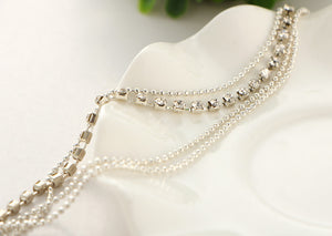 Multi-layer Crystal Anklet - Branded Royalty