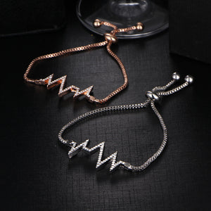 Heartbeat bracelet (Gold or Silver) - Branded Royalty
