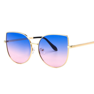 Oversized Gradient Cat Eye Sunglasses - Branded Royalty
