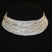 Layered Crystal Chandelier Choker - Branded Royalty