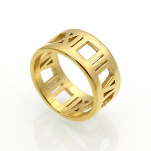 360 Roman Numeral Ring (Gold, Rose Gold or Silver)