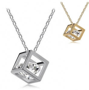 Cube Necklace (Gold or Silver)