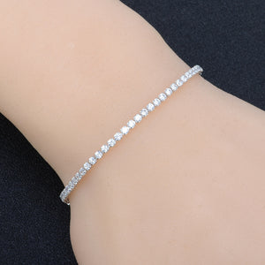 Floating Diamonds - Adjustable Bracelet - Gold, Rose Gold or Silver - Branded Royalty