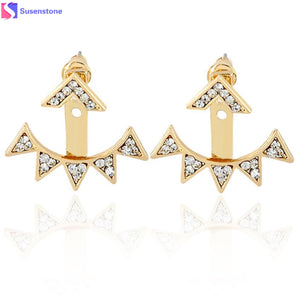 Trifecta Dangling Earrings - Gold or Silver - Branded Royalty