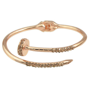 Screw Cuff Bangle - (Gold, Rose Gold or Silver) - Branded Royalty