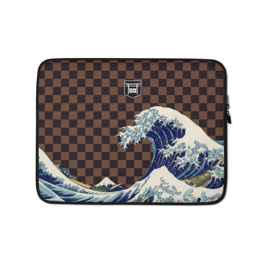 'Tsunami' Mono Macbook Sleeve