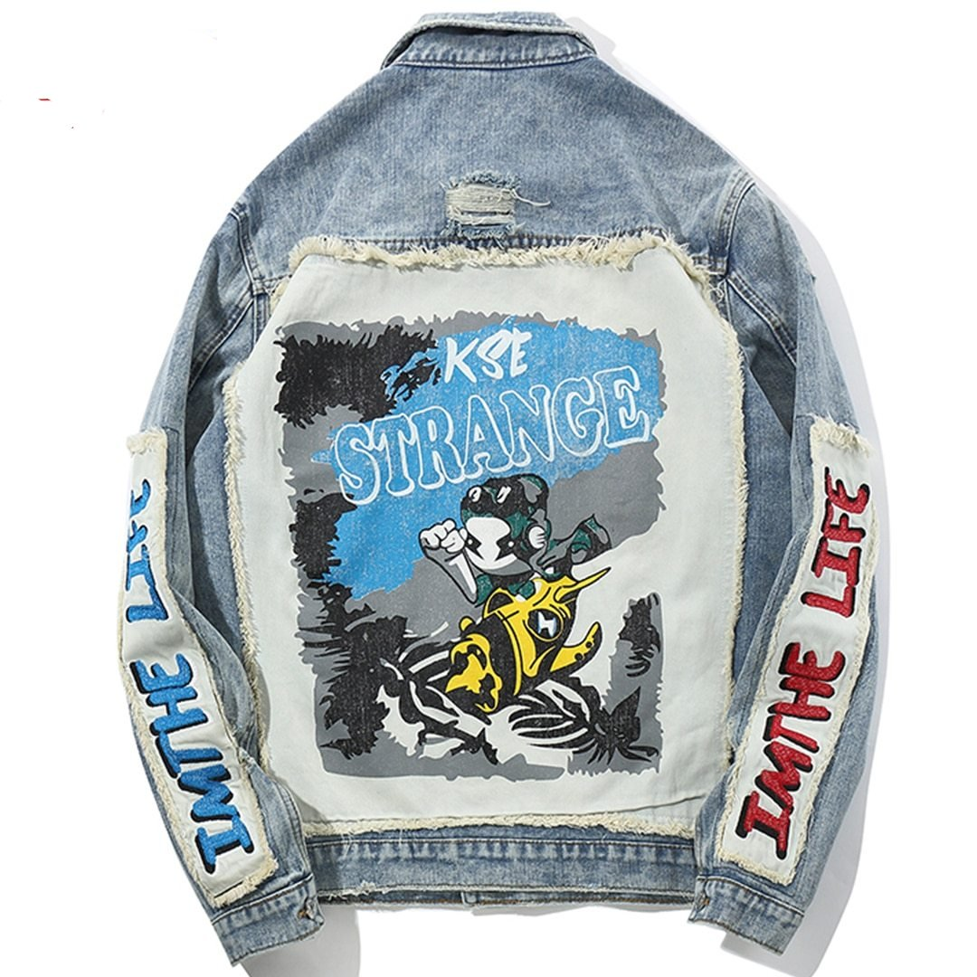 'Life' Denim Jacket
