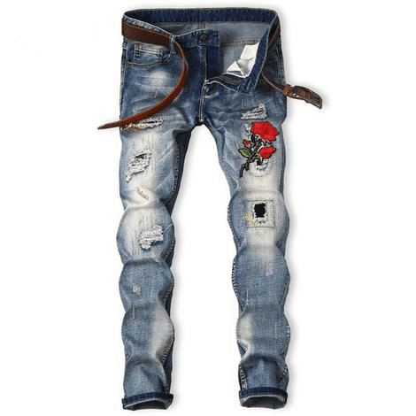 Rose Patch Jeans