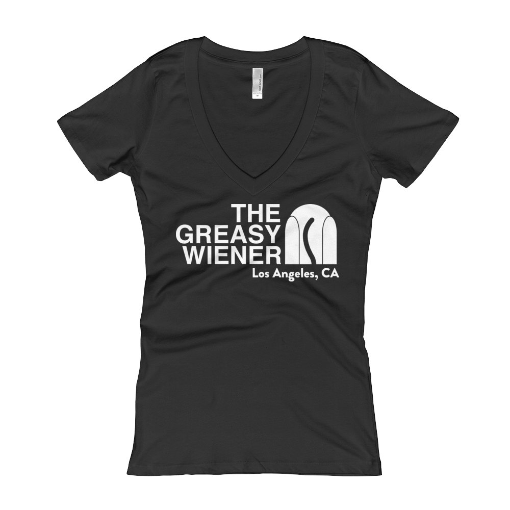 Women's | The Greasy Wiener Face | Women's V-Neck Tee