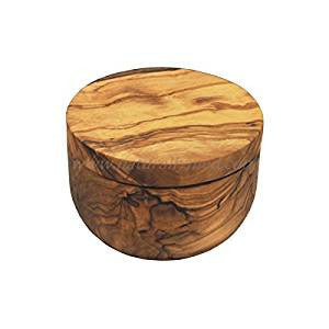 Olive Wood Salt Keeper