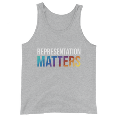 Rainbow Rep Matters Unisex Tank Top