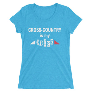 XC Crack - Ladies' short sleeve t-shirt - Form fitting