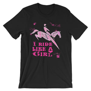 Ride Like A Girl - Unisex - Short sleeve t-shirt - Relaxed fit