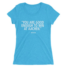 Win Aachen - Beer - (SJ) Ladies' short sleeve t-shirt - Form fitting