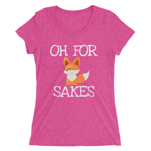 Fox Sakes - Ladies' short sleeve t-shirt - Form fitting