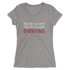 Ride like you are #1 - Ladies' short sleeve t-shirt - Form fitting