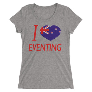 I love NZL Eventing - Ladies' short sleeve t-shirt - Form fitting