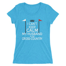 Husband on cross-country - Ladies' short sleeve t-shirt