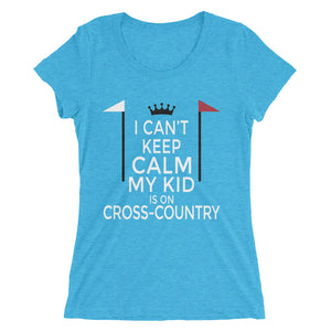 Kid on Cross-Country - Ladies' short sleeve t-shirt - Form fitting