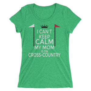Mom on cross-country - Ladies' short sleeve t-shirt - Form fitting