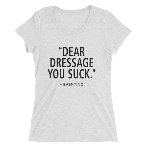 You Suck - (E) - Black type - Ladies' short sleeve t-shirt - Form fitting