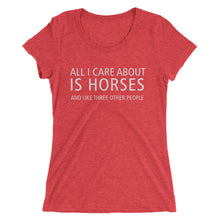 All I care about - Ladies' short sleeve t-shirt - Form fitting
