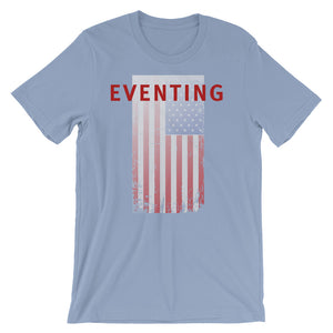 Eventing - USA Flag - Unisex - Short sleeve t-shirt - Relaxed fit