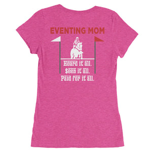Paid for it all - Mom - Back printed - Ladies' short sleeve t-shirt - Form fitting