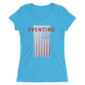 Eventing - USA Flag - Ladies' short sleeve t-shirt - Form fitting