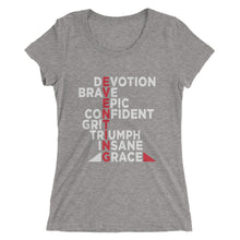 Eventing - Front printing - Ladies' short sleeve t-shirt - Form fitting