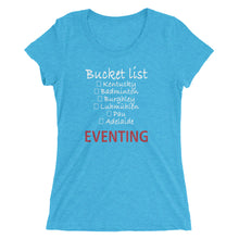 Bucket list (White type) - Ladies' short sleeve t-shirt - Form fitting