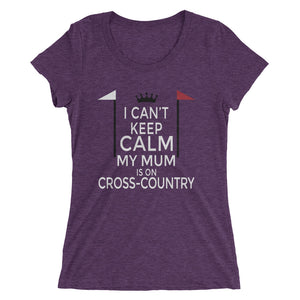 Mum on cross-country - Ladies' short sleeve t-shirt - Form fitting