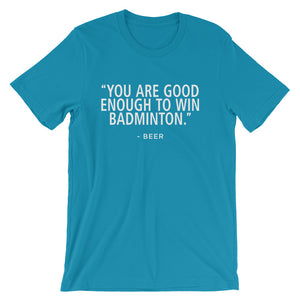 Win Badminton-Beer - Unisex short sleeve t-shirt - Relaxed fit