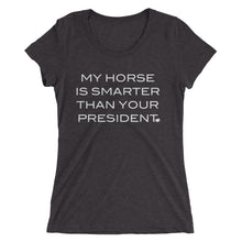 Horse is smarter - White type - Ladies' short sleeve t-shirt - Form fitting
