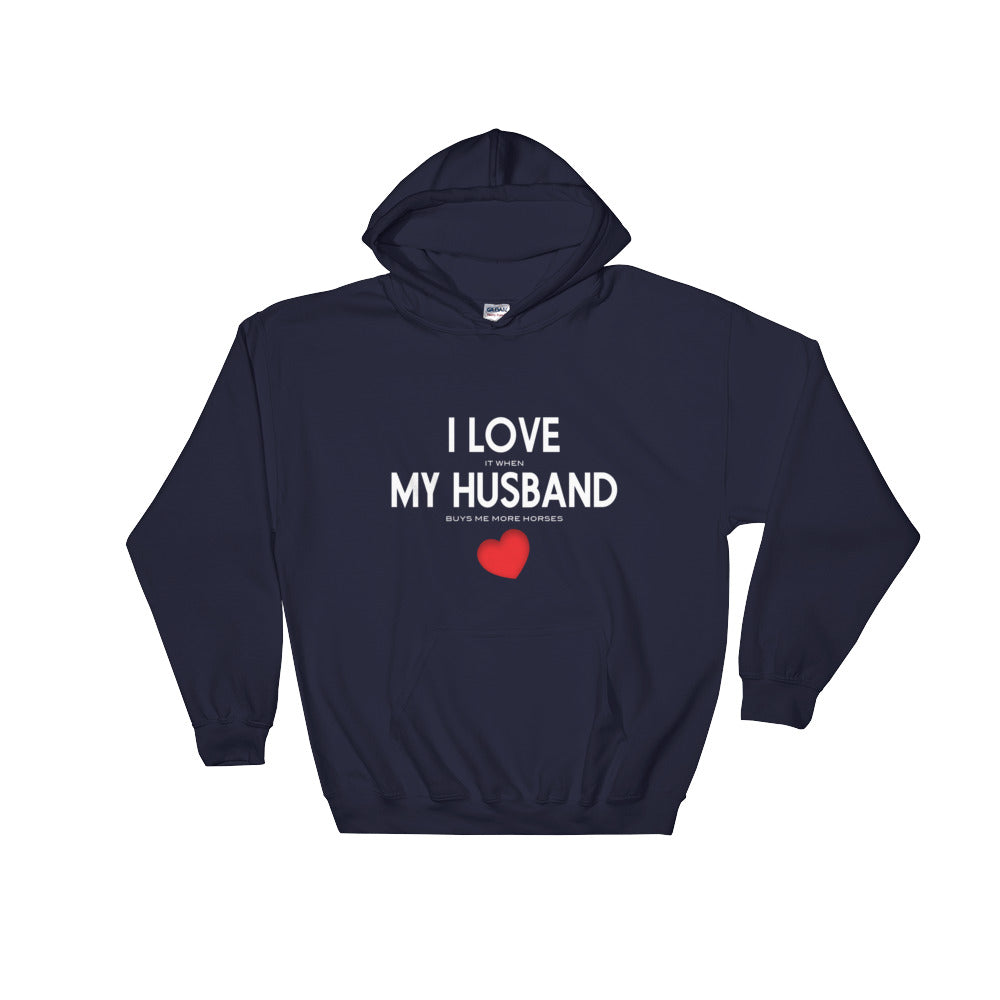 Love My Husband - Unisex Hooded Sweatshirt