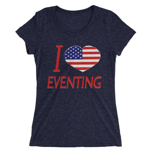 I Love USA Eventing - Ladies' short sleeve t-shirt - Form fitting