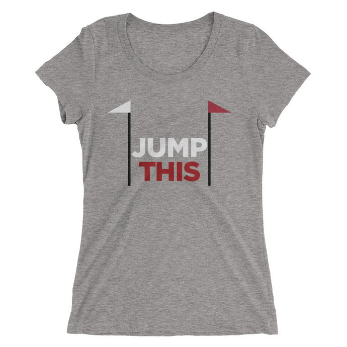 Jump This - Ladies' short sleeve t-shirt - Form fitting