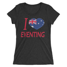 I love AUS Eventing - Ladies' short sleeve t-shirt - Form fitting