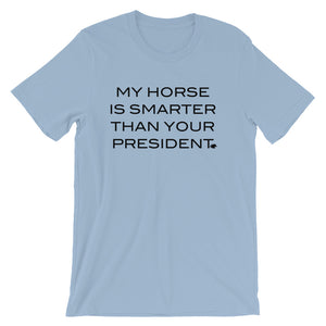 Horse is smarter - Black Type - Unisex - Short sleeve t-shirt - Relaxed fit