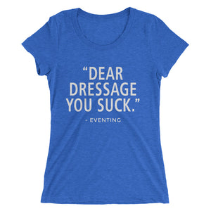 You Suck - (E) - White Type -Ladies' short sleeve t-shirt - Form fitting