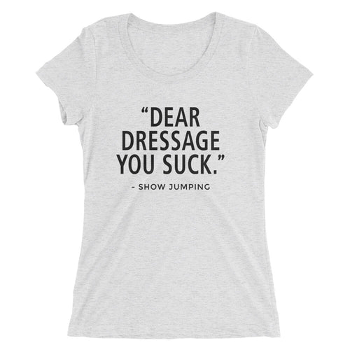 You Suck - (SJ) - Black type - Ladies' short sleeve t-shirt - Form fitting