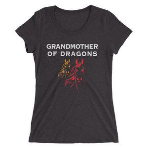 Grandmother of Dragons-Horses - Ladies' short sleeve t-shirt - Form fitting