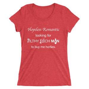 Hopeless Romantic - Ladies' short sleeve t-shirt - Form fitting