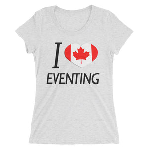 I love CAN Eventing - Ladies' short sleeve t-shirt - Form fitting