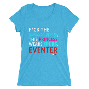 F*ck Glass Slippers - Ladies' short sleeve t-shirt - Form fitting